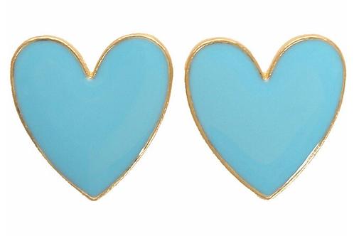 I Heart You - Aqua Earrings