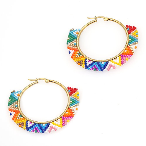 Rainbow Bead Earrings