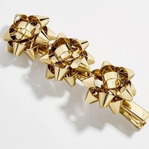 Gold Bow Hair Clip