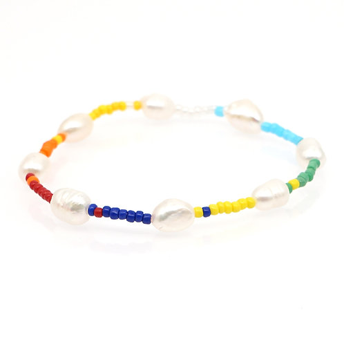 Natural Pearl colourful bracelet