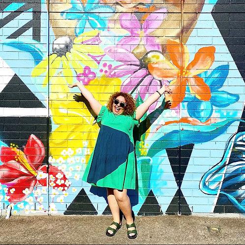 Pop Rock Park Dress -Green