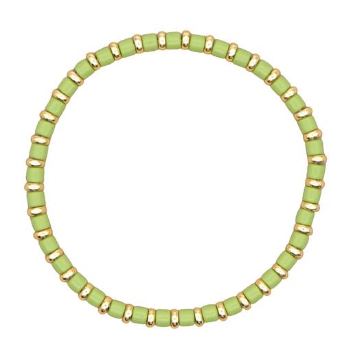 Green Enamel Stretch Bracelet