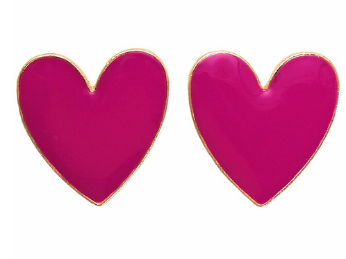 I Heart You - Pink Earrings
