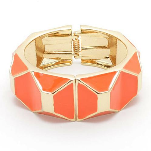Orange Enamel Bracelet