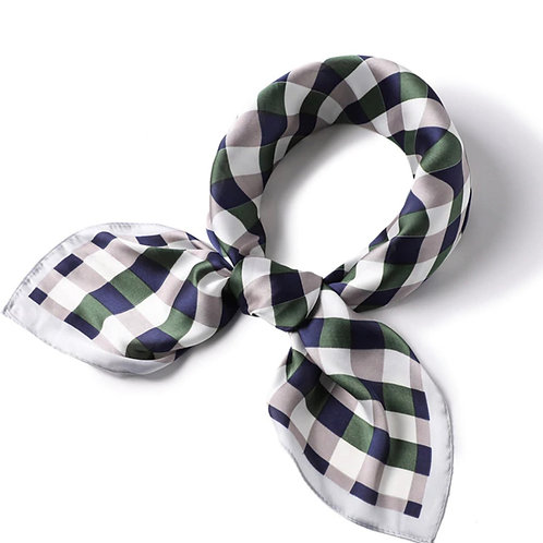 Scarf Lot #7 - navy green check