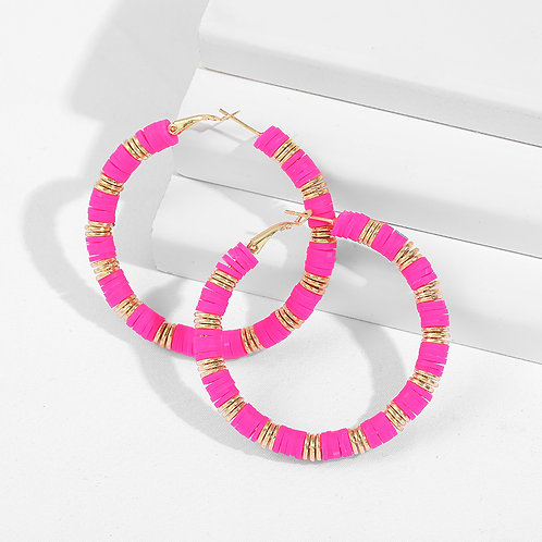 Party Pink Hoop Earrings