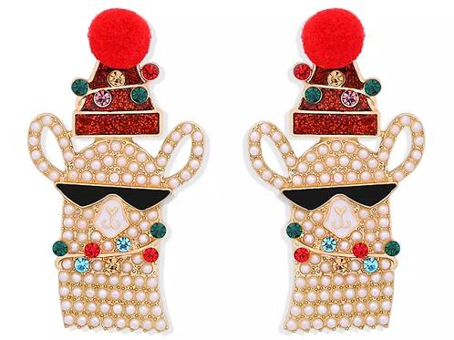 Christmas Llama Earrings