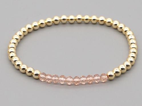 Crystal & Gold Stretch Bracelet