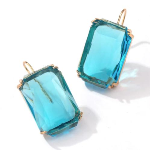 Drop Earrings - Blue