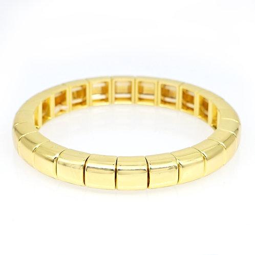 Gold Enamel Stretch Bracelet