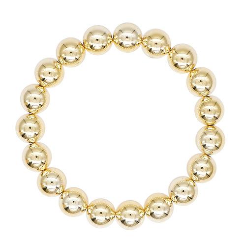 Large Gold Bead Stretch Bracelet