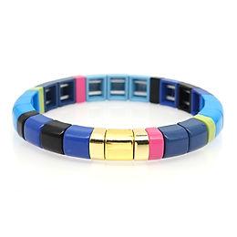 Blue Sky Enamel Stretch Bracelet