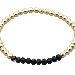 Black & Gold Stretch Bracelet