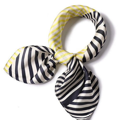 Scarf Lot #5 -yellow stripe