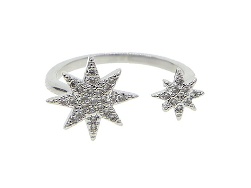 Two star cocktail ring