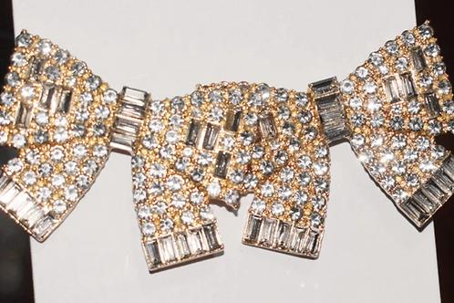 Gold Glam Bow Earrings
