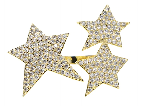 Gold star cocktail ring