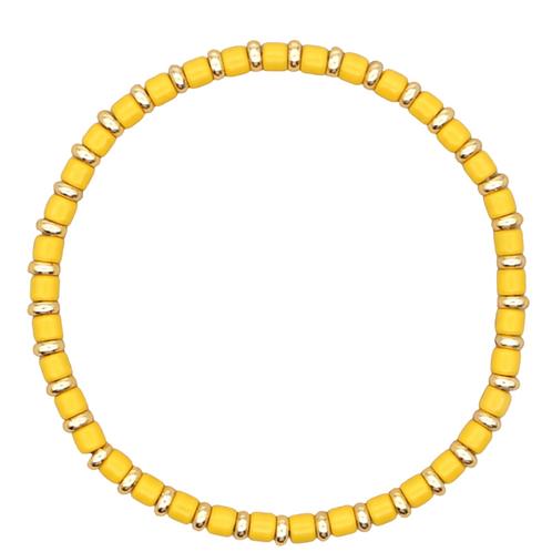Yellow Enamel Stretch Bracelet