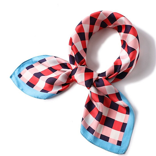 Scarf Lot #6 - red blue check