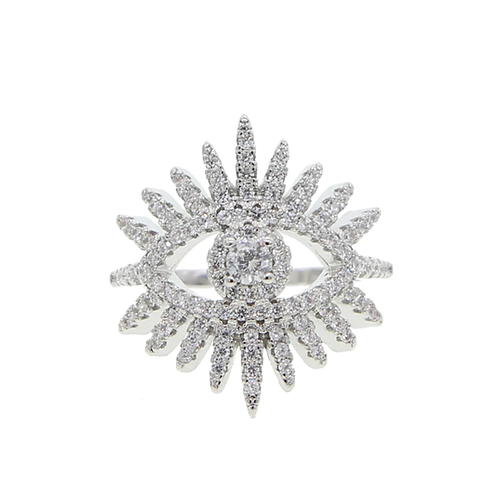 Glam Evil Eye Ring
