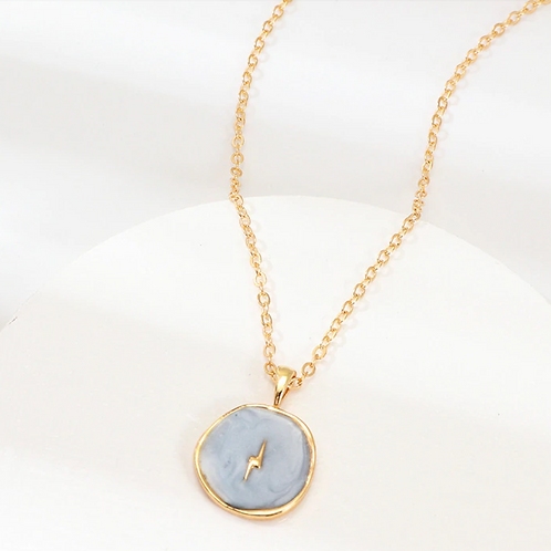 Olive Lightning Bolt Necklace