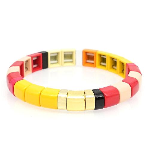 Sunshine Enamel Stretch Bracelet