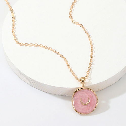 Pink Moon Necklace