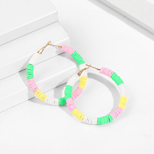 Pastel Party Hoop Earrings