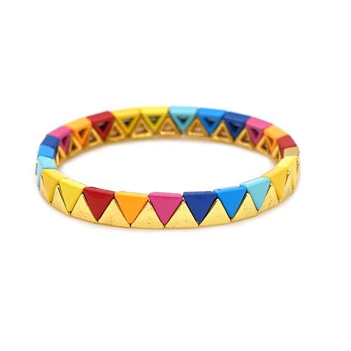 Arm Candy Enamel Stretch Bracelet