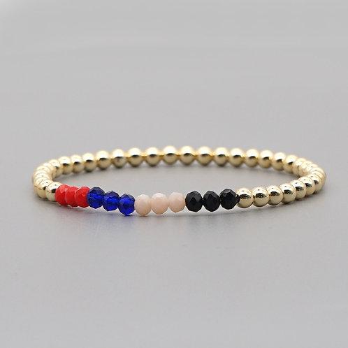 Multi & Gold Stretch Bracelet