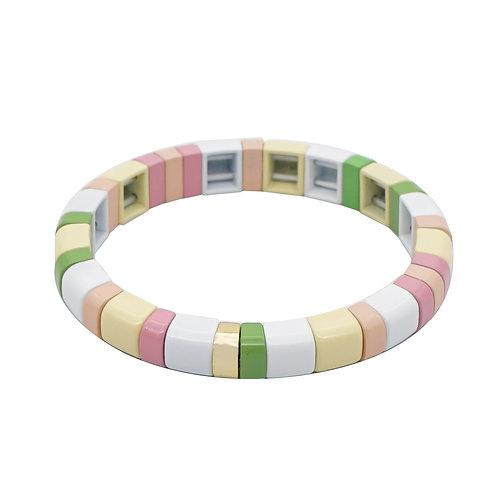 Pastel Enamel Stretch Bracelet