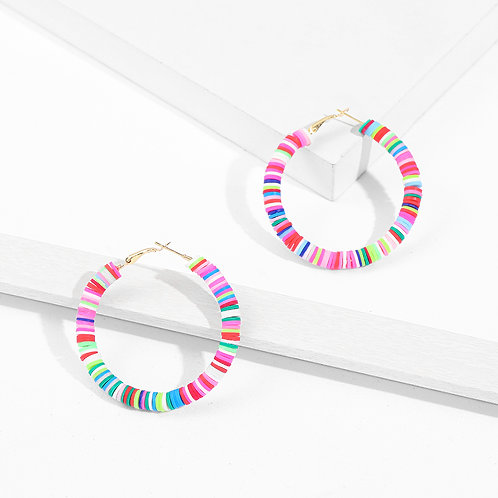 Rainbow Brite Hoop Earrings