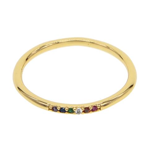 Rainbow Slim Ring