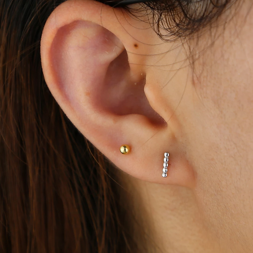 Morse Code Earring - Silver