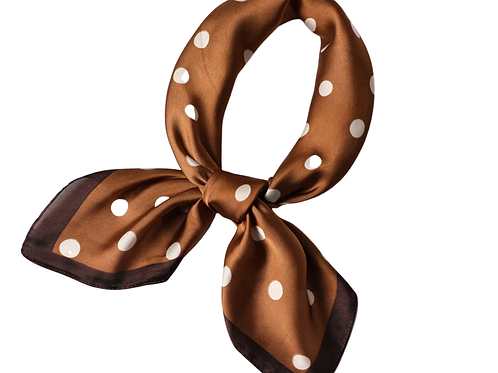Scarf Lot #4 - coffee dot