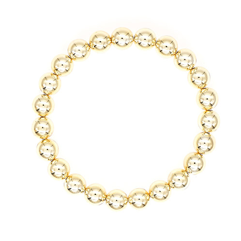 Small Gold Bead Stretch Bracelet