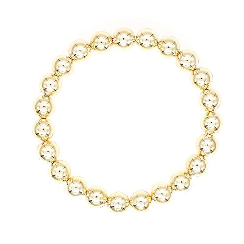 Small Gold Bead Stretch Bracelet