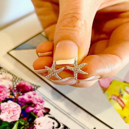 Star Fish Earring -Silver
