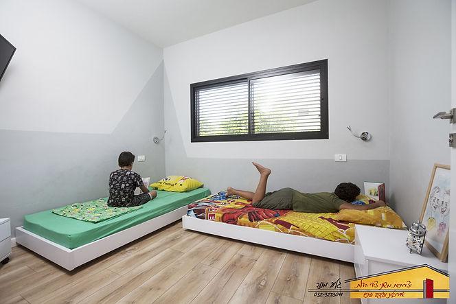 חדר ילדים תאומים אחרי בית פרטי בחדרה