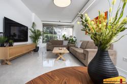 חדר מגורים דירה ברמת גן
