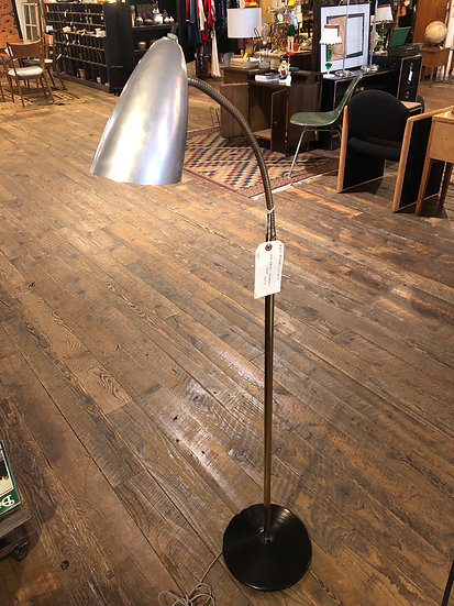 SOLD - Mid-Century Standing Gooseneck Lamp