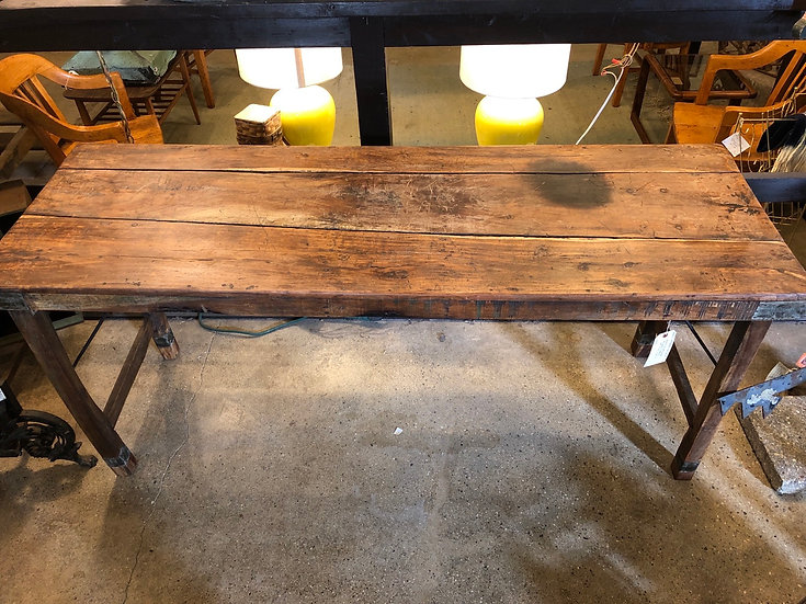 SOLD - Heavy Hardwood Folding Table