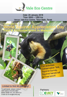 World Squirrel Appreciation Day - First & Exclusive event in Malaysia