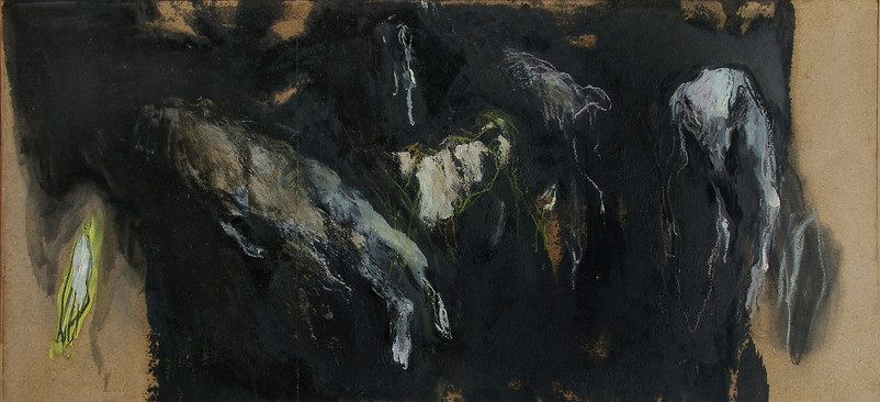 Huile sur toile 42X101 cm