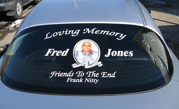 digital print, truck, philly, philadelphia, phila, truck lettering, advertise, memorial on car, cheap, window lettering, quality