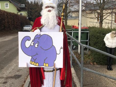 Hl. Nikolaus kam mit Elefanten nach St. Leonhard