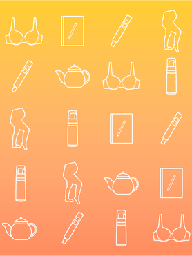 These icons represent the categories. I custom designed these in Illustrator.