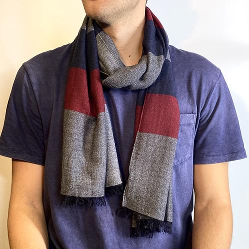 Sciarpa misto lana vista indossato