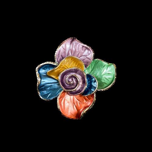 Spilla fiore multicolor