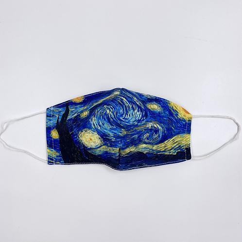 Mascherina Van Gogh vista frontale